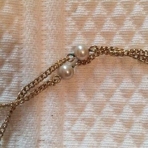 Vintage pearl costume necklace